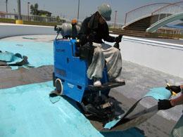 ターミネーター施工  プール防水の撤去